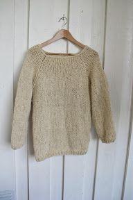 Strikkefeber: Oversized enkel genser