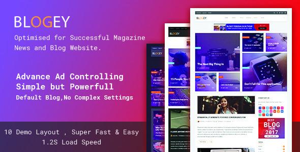 Blogey Blog - Personal Blog & Magazine WordPress Theme   Wordpress ...