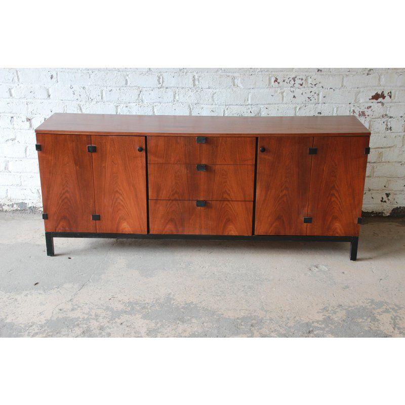 Milo Baughman For Directional Mid Century Modern Walnut Credenza Or Triple Dresser Modern Walnut Credenza Dresser Design Baughman