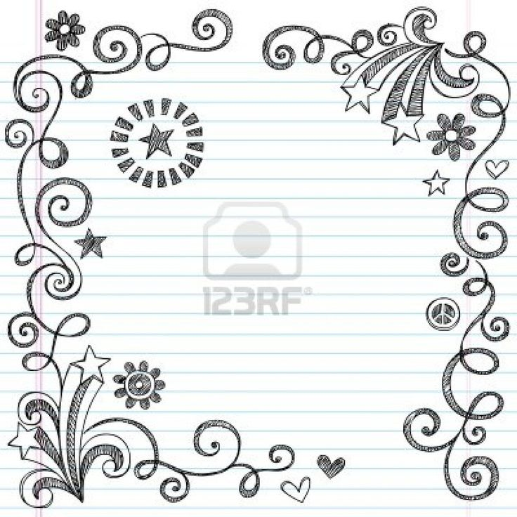 Doodle Border Patterns Pinterest Doodle Borders Doodle Pages Notebook Doodles