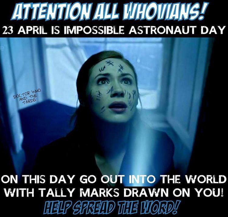 Today is Impossible Astronaut Day!