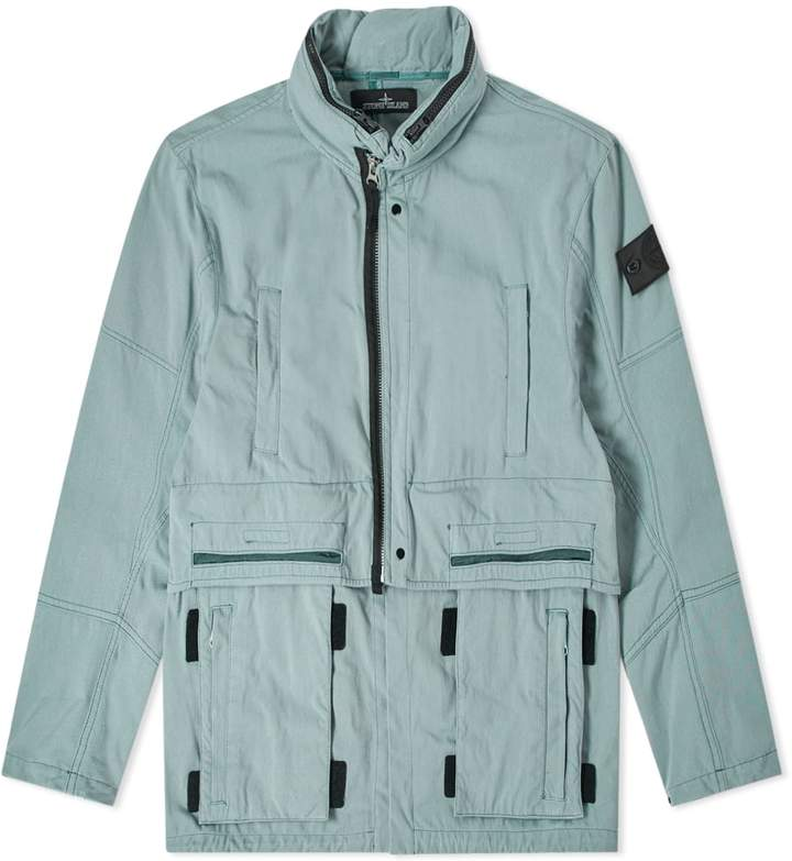 649ae811a8a Stone Island Shadow Project Hollow Core Concealed Hood Jacket ...