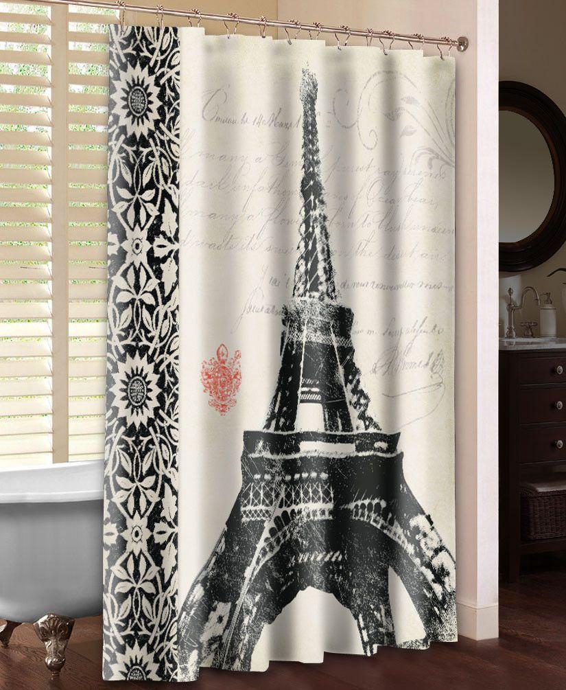 Eiffel Tower Shower Curtain  Morgans bathroom  Paris