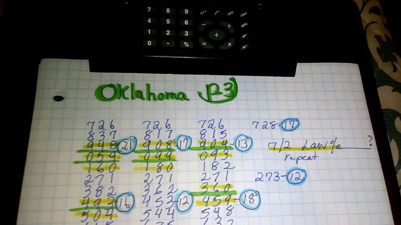 Oklahoma Pick 3 >> Lottery Challenge Oklahoma Evening Predictions Free Pick 3 Numbers