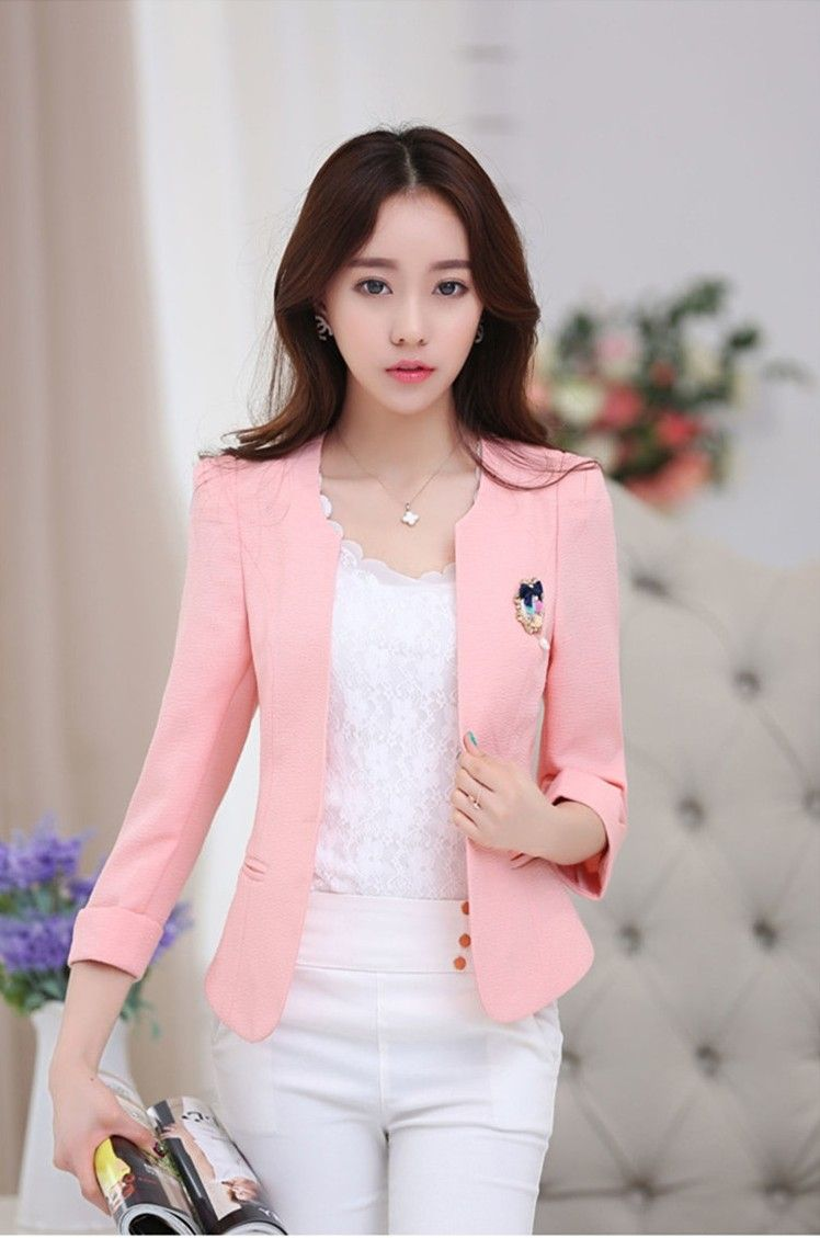 Why Do People Smoke At All Korean Slim Sleeve Small Suit
