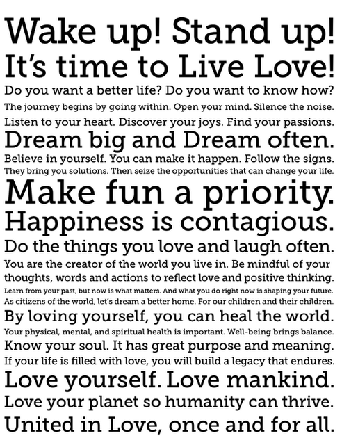 It's time to Live Love!