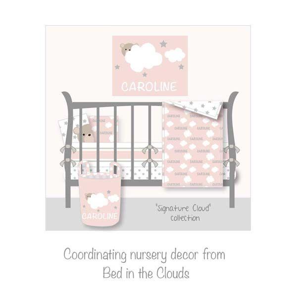 Personalized Nursery Bedding Personalized Crib Bedding Pink Nursery