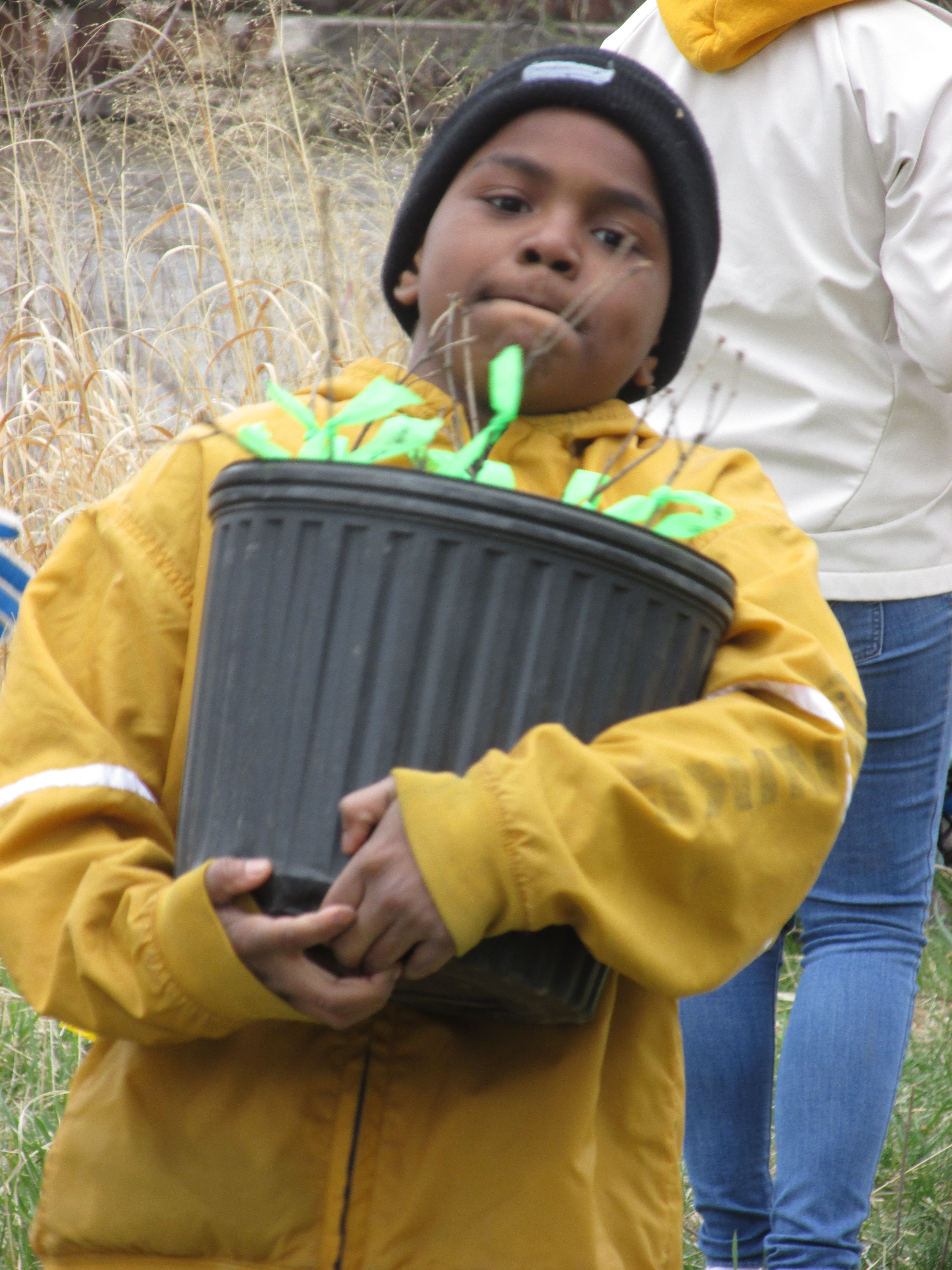 3rd Grade Students Planted Trees Along The Milwaukee River
