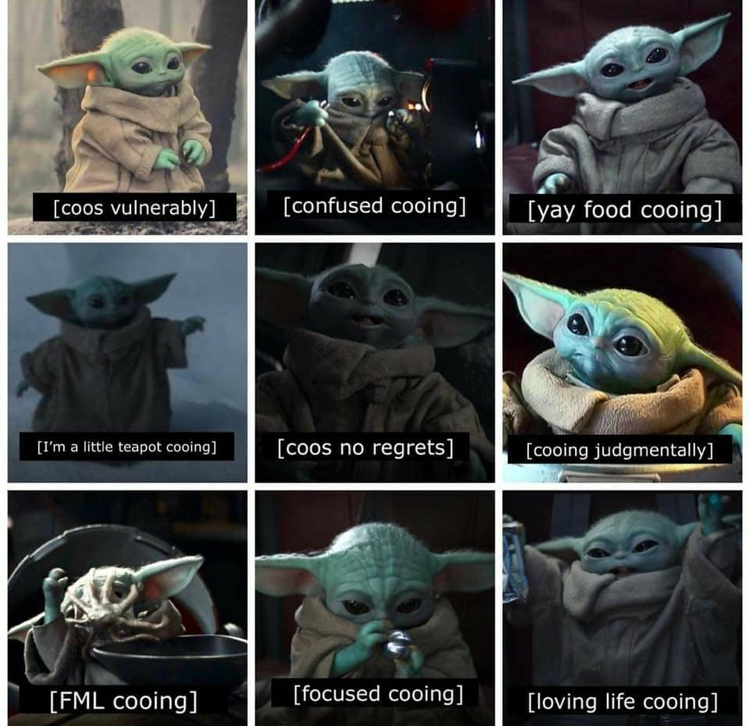 1 014 Likes 7 Comments Baby Yoda Babyyoda I Am On Instagram Coo Star Wars Humor Star Wars Pictures Yoda Meme