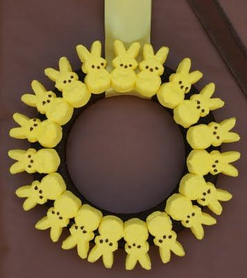 Peeps wreath    The Laws of My Life: Jake & Jack's Third Annual Easter Egg Hunt!