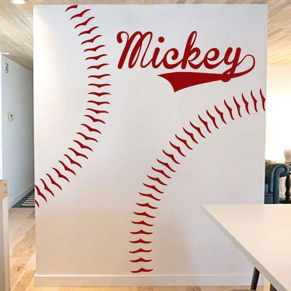Superieur Customizable Baseball Wall Decal