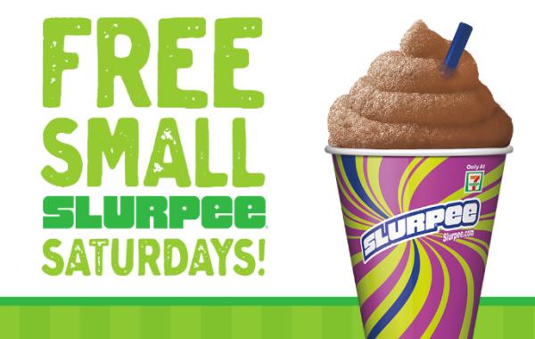 FREE Small Slurpee at 7Eleven Every Saturday in