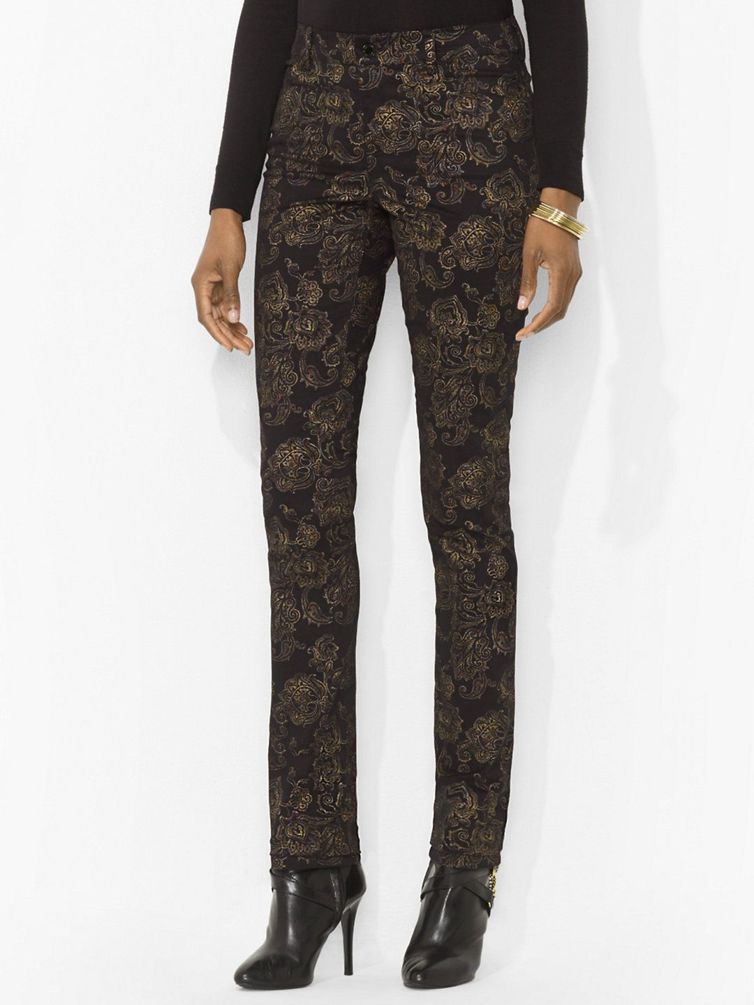 MUST HAVE! Ralph Lauren Printed Slimming Skinny Pant on sale for $89