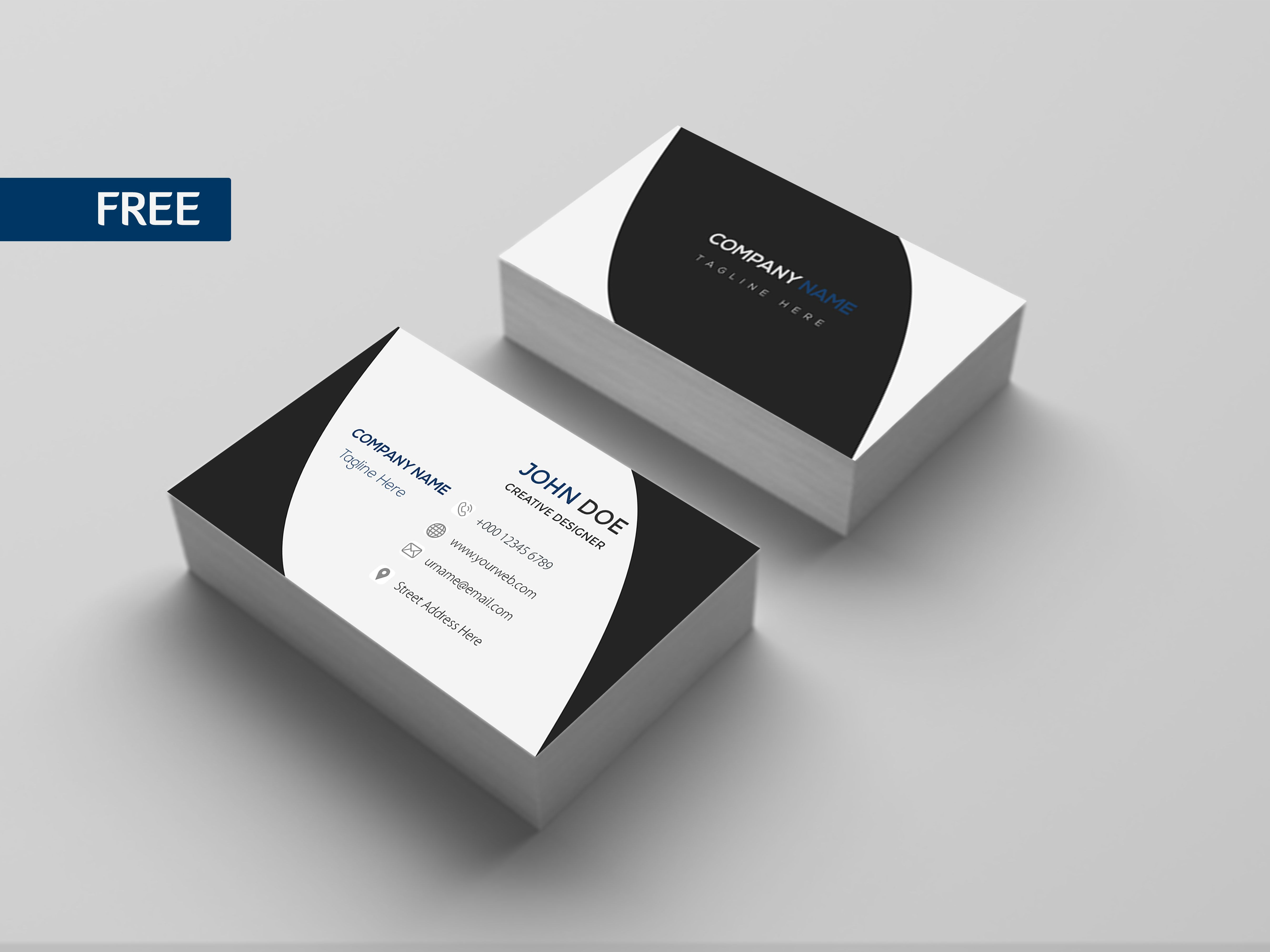 Free Business Card Template 05 Free Business Card Templates Business Card Design Free Business Cards