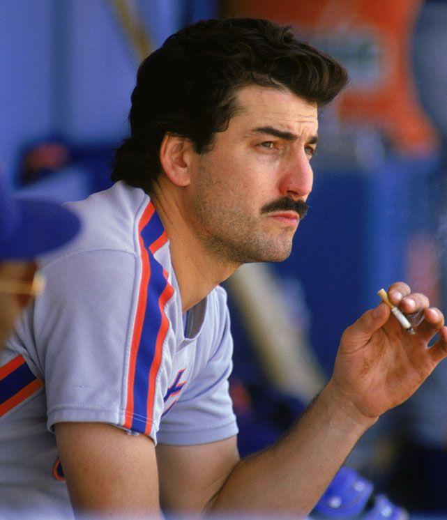 Keith Hernandez Enjoys A Dugout Cigarette During A Si