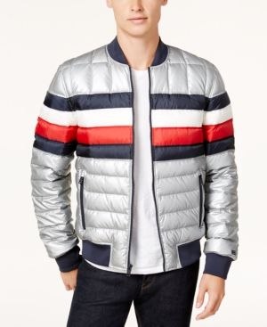 f8f99f52 Tommy Hilfiger Men's Quilted Striped Jacket - Brown XXL | Products ...