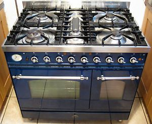 Kitchen With Gas Range Britannia Dual Fuel Kitchen Range Cooker Gas Electric Blue Double Oven Kitchen Range Range Cooker Kitchen
