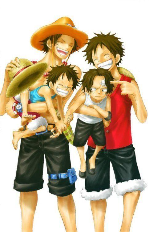 Portgas D. Ace and Monkey D. Luffy  e2e0d42437f