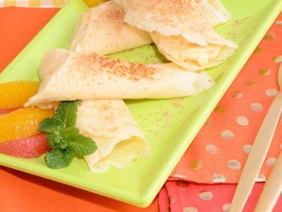 Receta   Crepes rellenas de mousse de limón - canalcocina.es