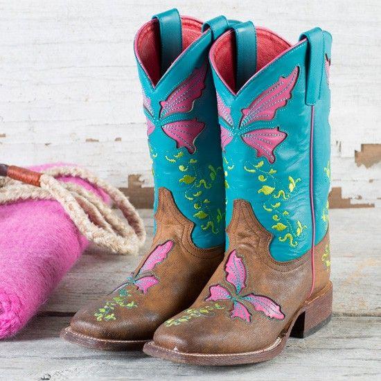 6e8ad30638b Macie Bean Turquoise Sinsation Boots | Trista | Kids cowboy boots ...