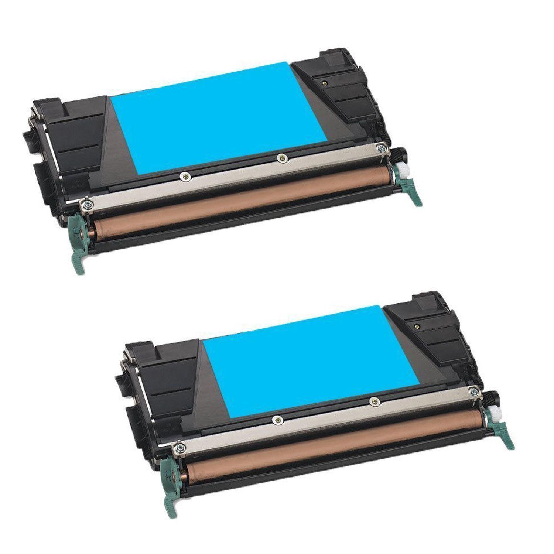N 2PK Compatible C746A1CG Toner Cartridge For Lexmark C746DN C746DTN C746N C748DE C748DTE