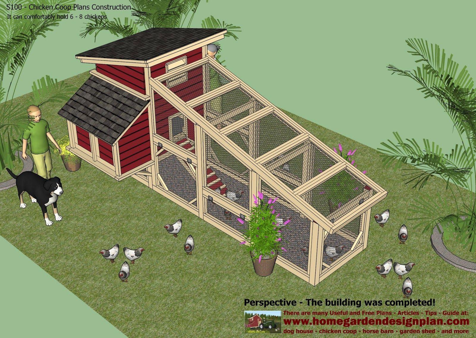 S100 - Chicken Coop Plans Construction
