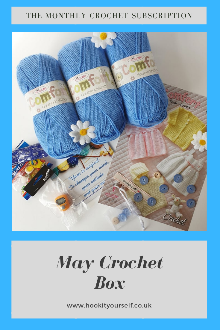 Subscribers Were Treated To King Cole Comfort In A Beautiful Blue Colour Very Reminiscent Of Bluebells Their Pattern Also In 2020 Crochet Box Double Knitting Crochet