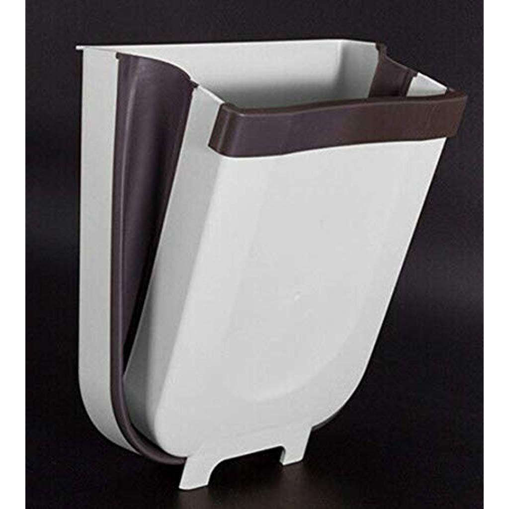 Home Kitchen Cabinet Door Hanging Trashcan Toilet Folding Wall Mounted Waste Bin