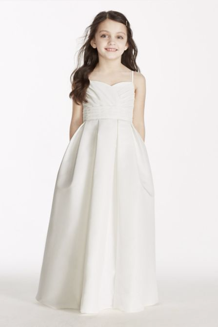 75f9c0794 Spaghetti Strap Full Length Sweetheart Neckline Flower Girl Dress David's  Bridal