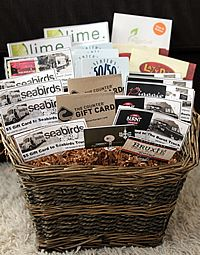 Gift card basket auction ideas pinterest gift card basket gift card basket negle Images