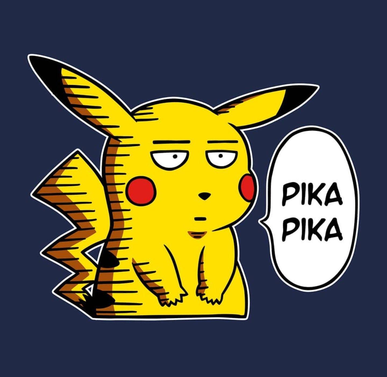 Pikachu One Punch Man Pokemon Pokemon Funny Saitama One