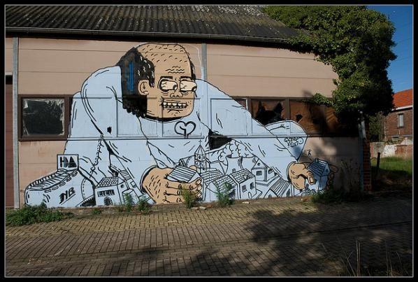 Abandoned Belgium Town Overrun By Street Art
