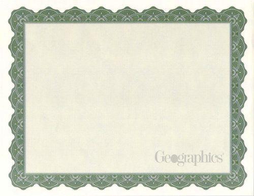 Optima Green Certificates w/ Foil Seals, 8.5x11, 25/PK   St ...