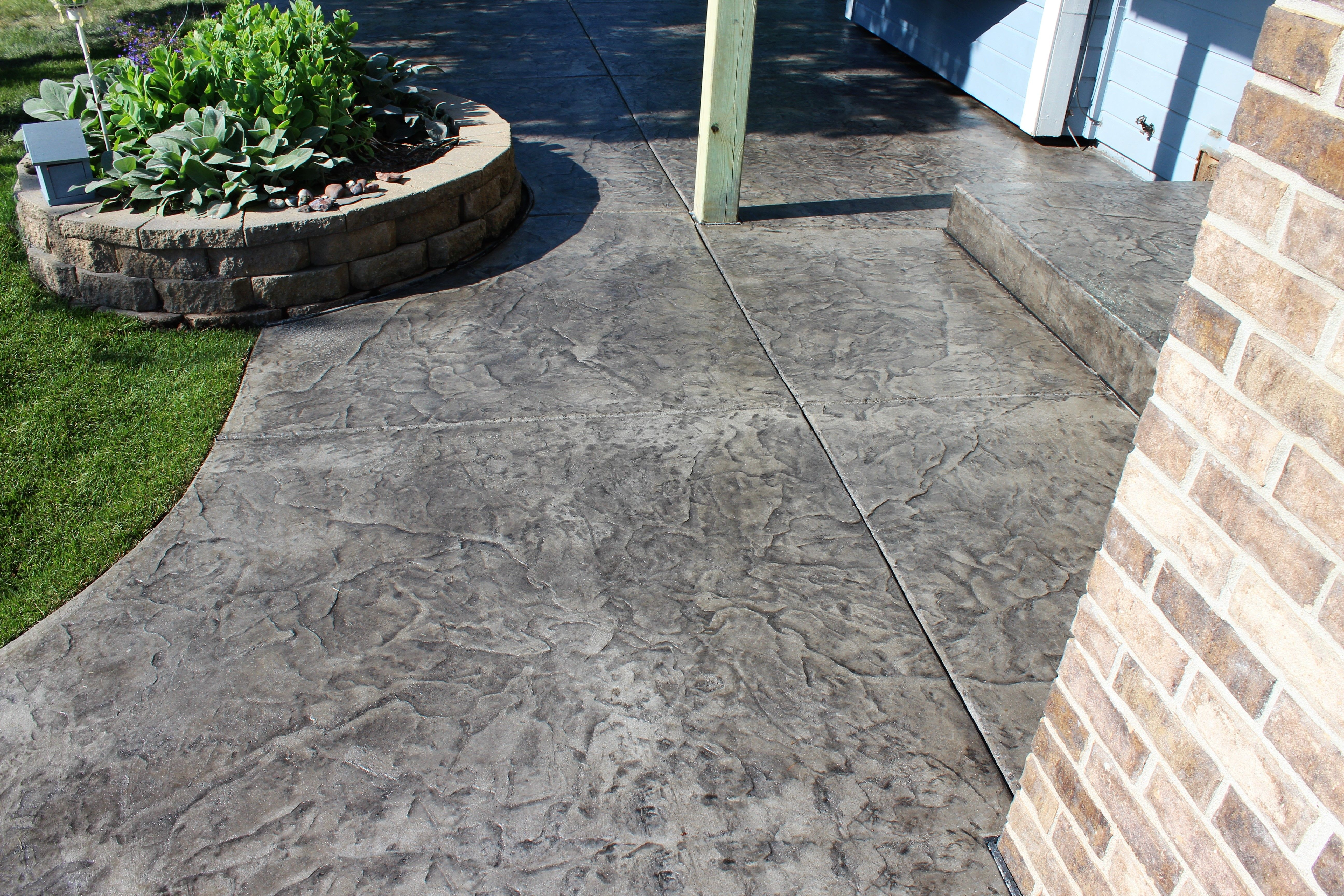 pin by custom construction services on stamped concrete