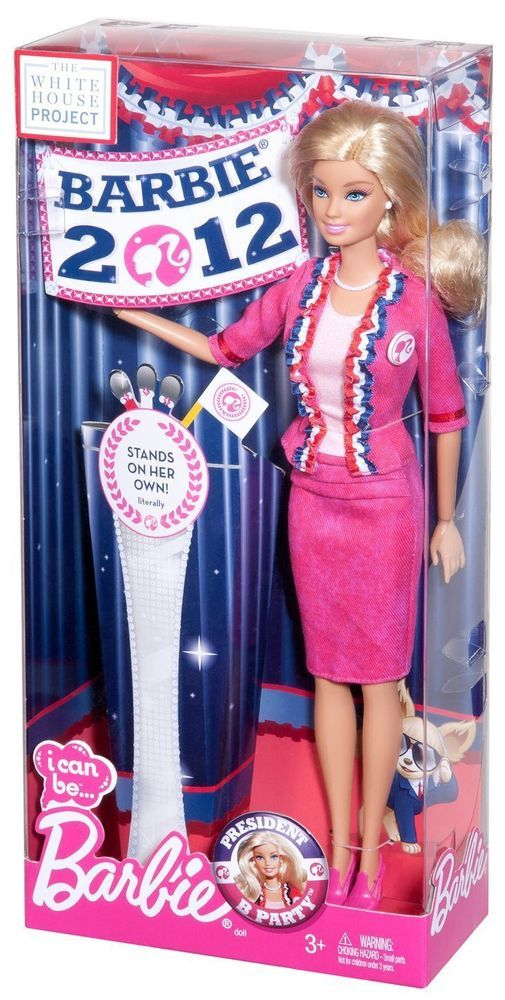 I Can Be President Blond Barbie Doll 2012 NEW The White House Project