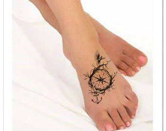 Temporary Tattoo Flower Waterproof Ultra Thin Realistic Fake Tattoos ...