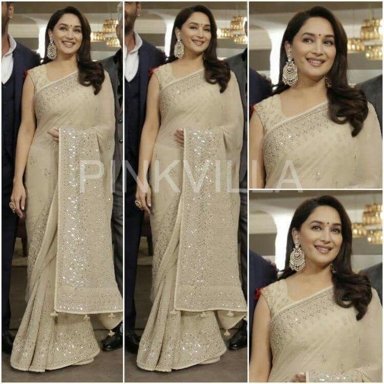 Madhuri Dixits lovely Anita Dongre sari will inspire you