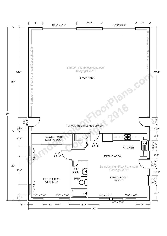 Apartments Barndominium Floor Plans Pole Barn House And Metal One