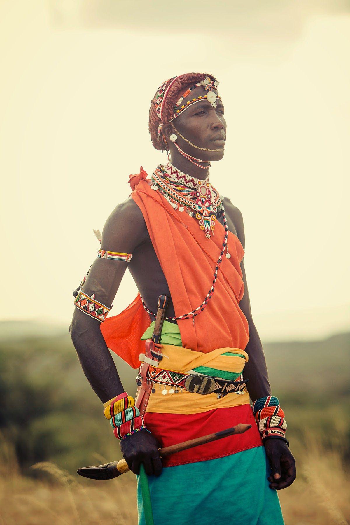 The colourful robes of the Samburu in Kenya. Taken by