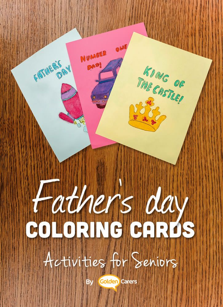 Father's day Coloring Cards Color card, September
