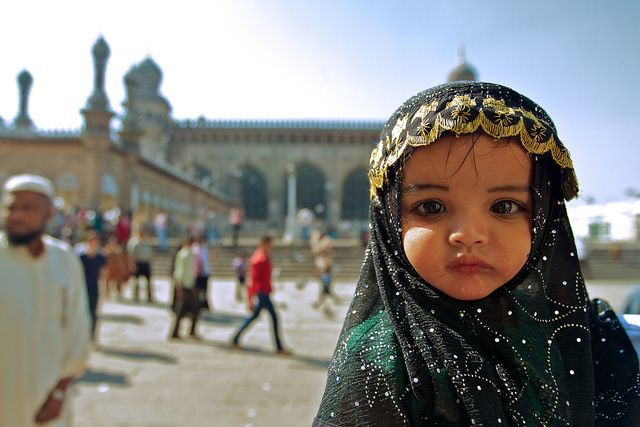 Baby at a Mosque, Hyderabad, by Johanan Ottensooser (BB Flickr Pool)