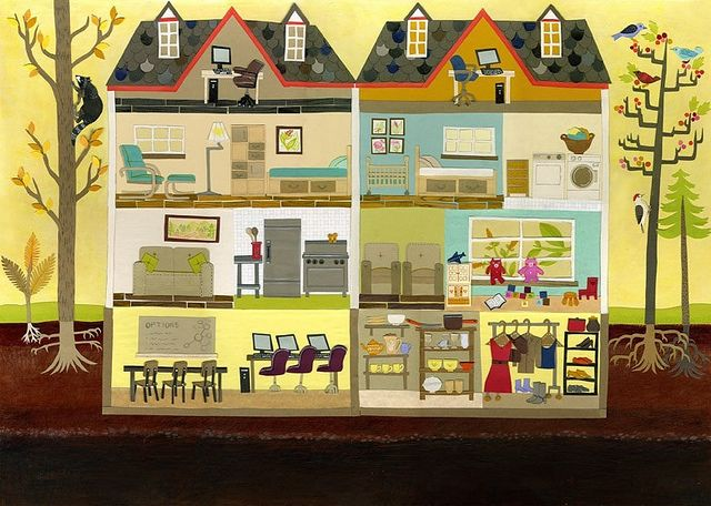 house illustrations | Recent Photos The Commons Getty Collection Galleries World Map App ...