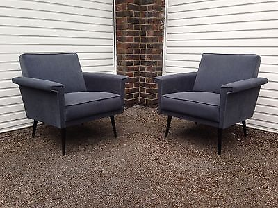 60's 70's pair of  #modernist club lounge #armchairs. #mid-century, retro, vi,  View more on the LINK: http://www.zeppy.io/product/gb/2/121961957467/