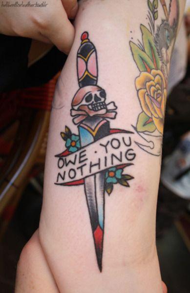 tattoo old school traditional nautic ink skin rip dagger with skull symbol pinterest. Black Bedroom Furniture Sets. Home Design Ideas