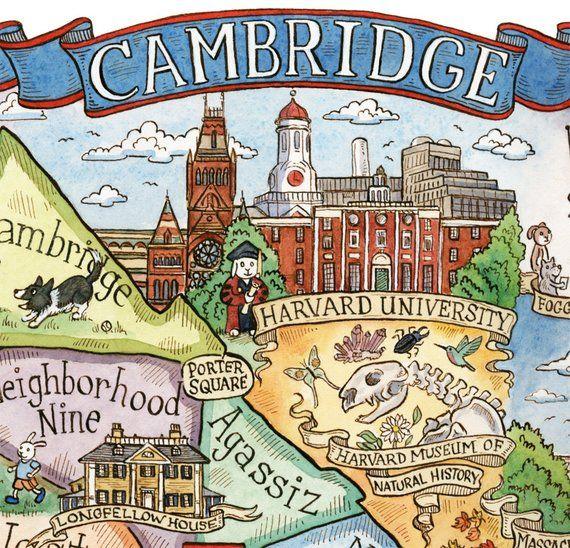 Cambridge Massachusetts Neighborhood Map 8\