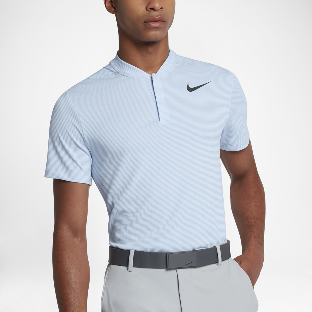 Nike Aeroreact Mens Slim Fit Golf Polo Shirt Size 2xl Blue