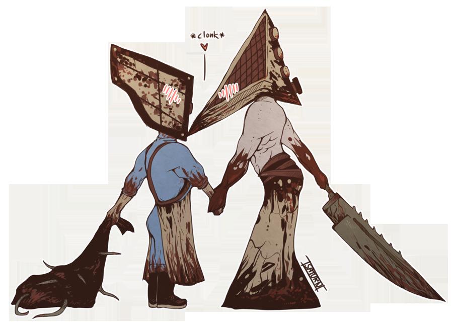 Cube Head Meets Pyramid Head
