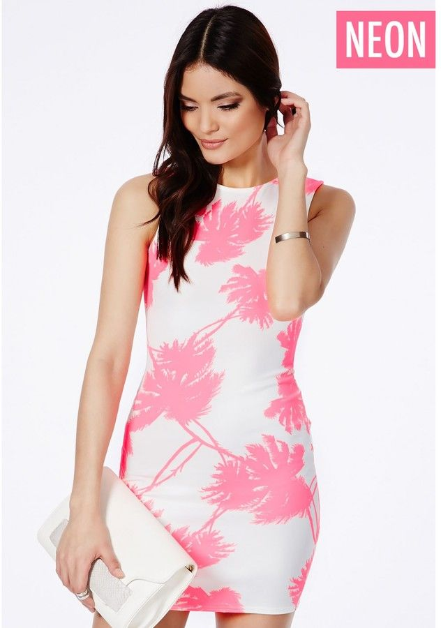 Picara Mini Dress In Neon Palm Print is on sale now for - 25 % ! is ...