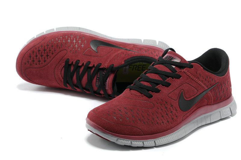 Nike Free 40 V2 Suede Mens Wine Red Red Womens Sneakers