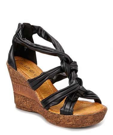 0ff83731b10 Another great find on #zulily! Black Braided Wedge by Shoes of Soul ...